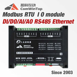 China DIN Rail Mounting Modbus RTU IO Module Analog Digital Input Output SCADA distributor