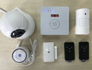 China Emergency Button Gsm Alarm Panel , Smoke Detector Home Burglar System distributor